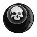 Bottone dark skulls - 12 pezzi