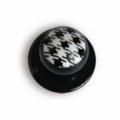 Bottone da cuoco quadretti - 12 pezzi